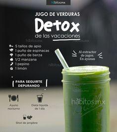 Jugo verde para detox de hábitos.mx