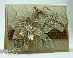 Stampin' Up! The Stampin' Schach: November Lesson of the Month.It's Like Stampin' with Me in My Kitchen Christmas Paper Crafts, Stampin Up Christmas, Christmas Cards To Make, Xmas Cards, Handmade Christmas, Holiday Cards, Poinsettia Cards, Christmas Poinsettia, Heartfelt Creations