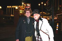 Steampunks on Main Street - at Steamathon 2015- Doc Phineas' World Steampunk Convention in Las Vegas at the Main Street Station Hotel and Casino #steamathon