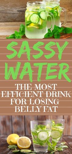 The refreshing 'sassy water' is not one of those distasteful and unpleasant drink which you will have to drink while holding your nose. Health And Fitness Articles, Health Advice, Health Fitness, Health Facts, Health Diet, Usa Health, Women Health, Brain Health, Healthy Drinks