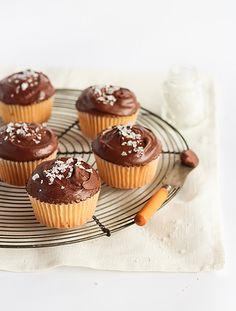 Chocolate, Olive Oil and Sea Salt Cupcakes.