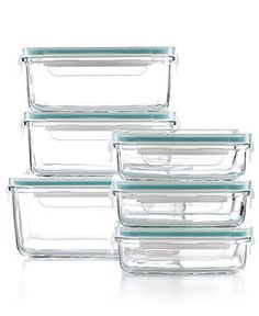 Martha Stewart Collection Food Storage Container Set, 12 Piece Glass