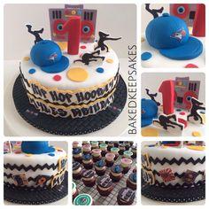 Hip hop hooray themed birthday cake made by Baked Keepsakes.