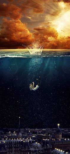 This is completely awe-inspiring. A photo-manipulated digital art piece by Deviantart user ParadisiacPicture. Limited edition canvas prints are available on Society6 until 01.01.2015.