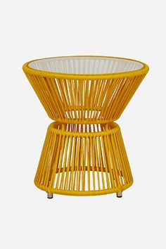 Tumbler Side Table - Mustard