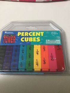 FRACTION TOWER PERCENT CUBES, FRACTIONS, PERCENTS, DECIMALS, AGES 8+, NEW #LearningResources