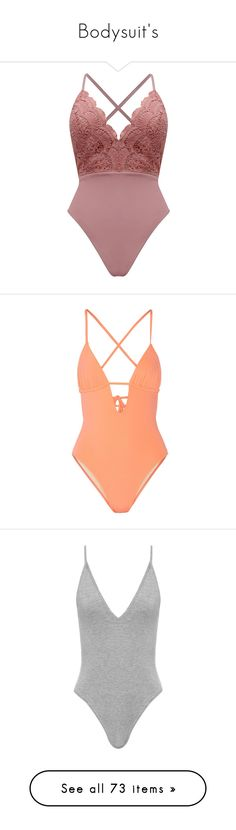 """Bodysuit's"" by nasza ❤ liked on Polyvore featuring intimates, shapewear, bodysuits, body, tops, lingerie, swimwear, one-piece swimsuits, swimsuits and bikini"