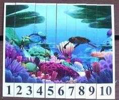 printable ocean number puzzle