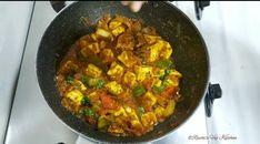 KADAI PANEER – Ruchi's Veg Kitchen Fresh Coriander, Coriander Seeds, Kadhai Paneer, Dried Chillies, Paneer Recipes, Sauteed Vegetables, Naan, Food Videos, Spicy