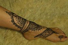 henna style foot tattoos - Google Search