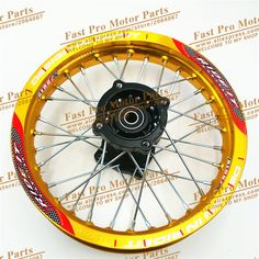 """Pit Bike Rims 1.85x12""""inch Racing dirt bike rim for  KTM CRF Kayo BSE Apollo 12inch Rear Wheels spare parts fit 80/100-12 Tyre"""