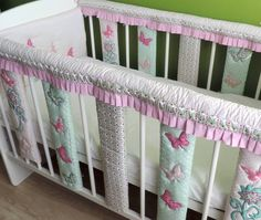 Baby Cot Bar Bumpers - Crib Rail Cover - Cotton Baby Bedding - Crib Teething Rail Guards Cot Bumpers - Teething Rail Cover