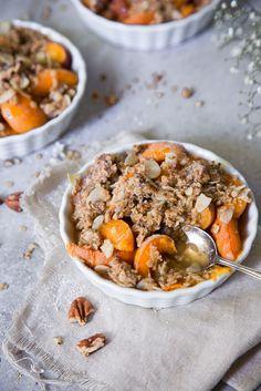 Aprikosencrumble aus gesunden Zutaten