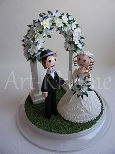 quilled cake topper