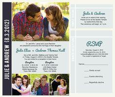 printable wedding announcement lds mormon wedding invitation photo invitation temple wedding