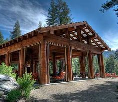 Sequoia High Sierra camp,  walk in glamping.  The community pavilion.