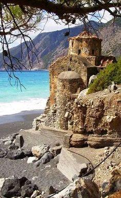 The Byzantine church of Agios Pavlos near Agia Roumeli in Chania | Crete, Greece.