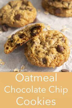 Oatmeal Chocolate Chip Cookie Recipe, Chocolate Butter, Oatmeal Cookies, Baking Recipes, Cookie Recipes, Dessert Recipes, Fun Recipes, Kitchen Recipes, Recipe Ideas