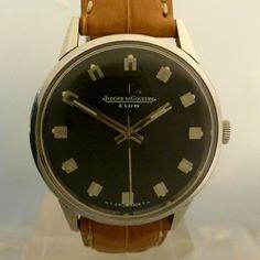 JAEGER LECOULTRE vintage club black dial mecanichal case E 200105   f