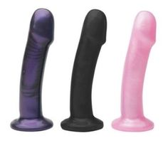 Buzz Vibrating Dildos $64.50. Buzz has a smooth body with a head you can appreciate, and is suited perfectly for harness play. Set the bullet vibrator in the base and feel it all the way up the shaft. Comes with removable bullet vibe that holds 3 watch batteries (included).