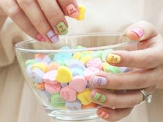 Sweet as Candy - http://www.beautyriot.com/makeup-beauty/11-new-nail-art-looks-try-g10101-page2