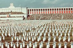 League of German Girls dancing during the 1938 Reich Party Congress, Nuremberg, Germany.