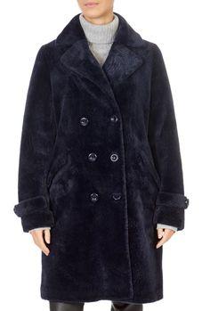 'Gala' Navy Faux Fur Coat | Jessimara Sheepskin Slippers, Blue Fabric, Catwalk, Faux Fur, Fur Coat, Navy, Clothing, Jackets, How To Wear