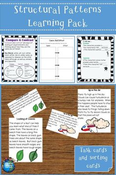 Help students learn key structural patterns with task cards, posters, and graphic organizers. #taskcards #ChronologicalOrder #CompareandContrast #ProblemSolution #CauseEffect #esl #esol #graphicorganizer #overallstructure #languageteacher #languagearts