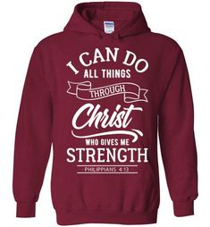 I Can Do All Things - Hoodie - Cardinal Red / M