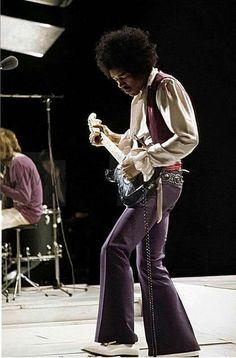 Jimi Hendrix gran guitarra