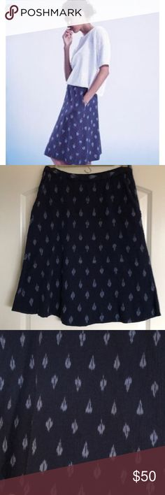 Eileen Fisher Cotton Skirt Small P Eileen Fisher Cotton Skirt! SP, has an elastic waistband and front pockets! Worn but in excellent condition! Eileen Fisher Skirts Midi