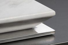 Pramar Stone Calacatta Marble Domino Hob. Detail.