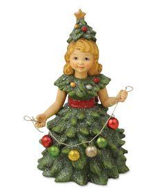 Christmas Tree Girl | Bethany Lowe Retro Christmas Collection. Retro Christmas Decorations.