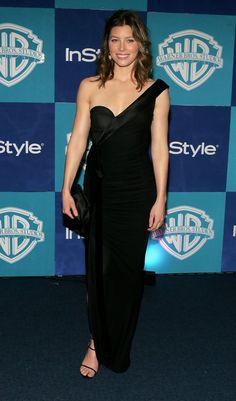 Eddie Martinez, Golden Globes After Party, Actress Jessica, Beverly Hilton, Column Dress, Jessica Biel, Red Carpet Fashion, Hollywood Actresses, Dark Hair