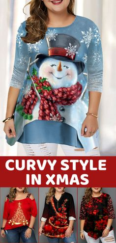 plus size christmas costumes you - christmascostumes Plus Size T Shirts, Plus Size Tops, Curvy Fashion, Plus Size Fashion, Girl Fashion, Bff, I Dont Like You, Christmas Costumes, Christmas Fashion