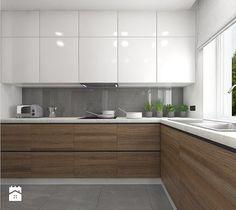Aranżacje wnętrz - Kuchnia: Wnętrze mieszkania na Teofilowie - Duża otwarta kuchnia w kształcie litery l, styl skandynawski - Tu architekci. Przeglądaj, dodawaj i zapisuj najlepsze zdjęcia, pomysły i inspiracje designerskie. W bazie mamy już prawie milion fotografii!