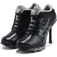 on sale 10409 3ade4 Cheap 2012 Women Nike Air Max 2009 High Heels Black Grey Jordan Heels, Nike  Air