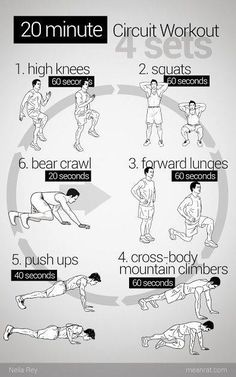 .20 minute no equipment circuit workout