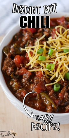 Chili Recipe With Cocoa Powder, Cocoa Powder Recipes, Chili Recipes, Crockpot Recipes, Family Recipes, Family Meals, Cincinnati Chili