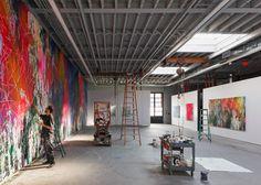 Brooklyn warehouse overhauled by Snøhetta to create art studio for painter José Parlá
