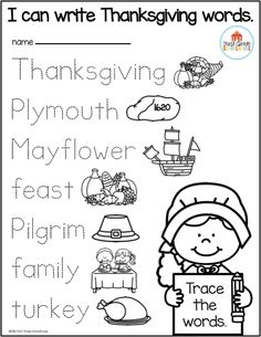 Thanksgiving Writing for Kindergarten is the perfect packet to engage your students in a variety of holiday writing activities and booklets. The writing topics include Pilgrims, turkeys, Native Americans, family Thanksgiving traditions, fall activities, Mayflower, being thankful, response to Thanksgiving literature, the first Thanksgiving, and more. It works well as a guided writing, small and whole group writing, or for your writing or literacy center.