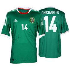 Javier Chicharito Mexico Autographed Green Back Jersey - Mounted Memories b55accc8b