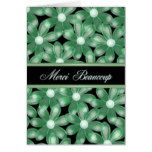 French Thank You Forest Flowers Card- Blank Card