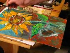 How to paint - SUNFLOWER Masterpiece - Painting with Acrylic - By Rami Benatar