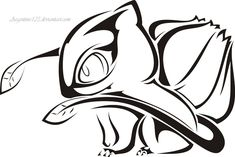 Tribal Bulbasaur Tattoo