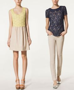 encaje en contraste Rompers, Trends, Dresses, Fashion, Lace, Vestidos, Moda, La Mode, Romper