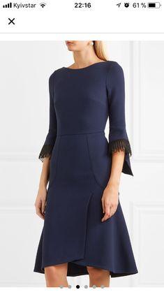 1a2a8bc596ff Синяя Мода, Темно Синие Платья, Шерстяное Платье, Платье Из Ткани Креп,  Платье