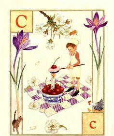 C..Cook..Cake..Candle..Cherry..Chess..Cat..Chicken.. by Lauren Mills Elfabet