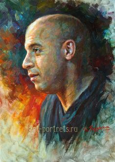 Celebrity Paintings oil on canvas by Igor Kazarin Vin Diesel, Realistic Pencil Drawings, Art Drawings, Shadow Drawing, Alcohol Ink Painting, Oil Painters, Fantasy Illustration, Mermaid Art, Types Of Art