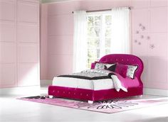 Marilyn Watermelon Twin Upholster Bed